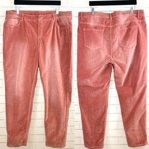Soft Surroundings Velvet Blush Pants